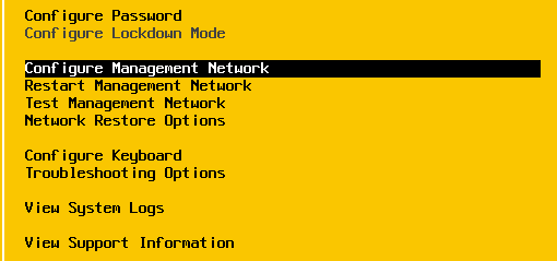 Configure management network