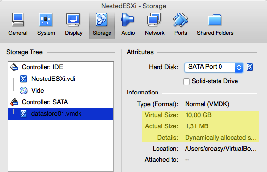 Nested VMware ESXi with virtualbox - Your first nested