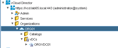 Object notfound in vRO using the vCloud Director plugin